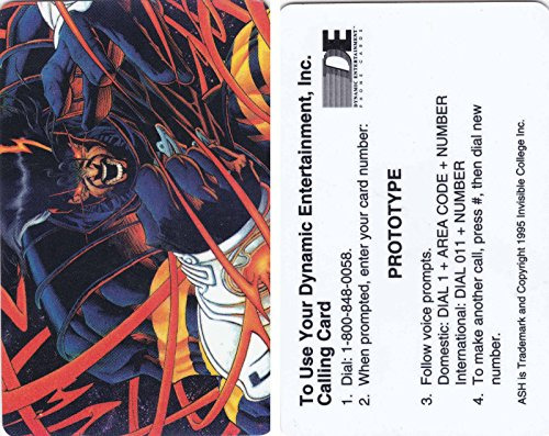 ASH PROTOTYPE COLLECTIBLE PHONE CARD 1995 DYNAMIC ENTERTAINMENT JOE QUESADA ART