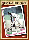 1987 Topps #311 Rickey Henderson HOF OAKLAND A's ATHLETICS TBC Turn Back the Clock