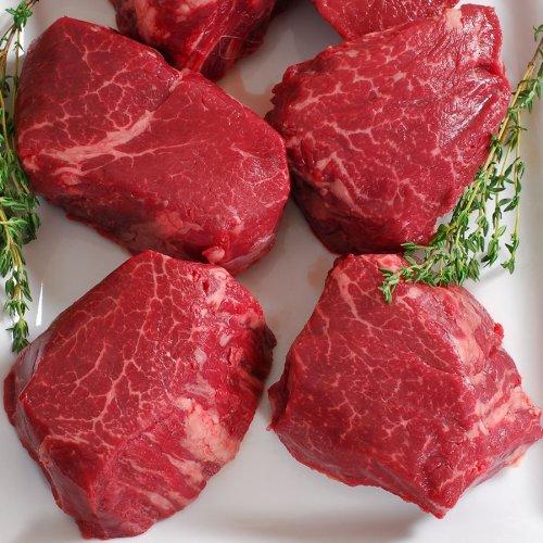 Australian Wagyu Beef Tenderloin, MS9, Whole, Cut To Order - 5 lbs, 2  1/2-inch steaks