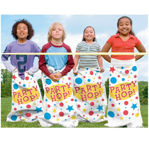[Amscan Carnival Fair Fun Potato Sack Race Bags Game Party Activity (6 Piece), Multicolor, 41