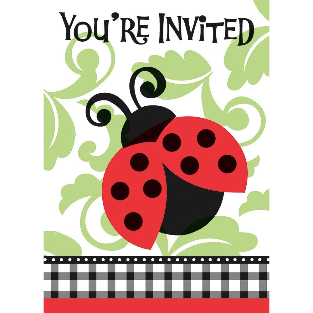 Amazon.com: Ladybug Invitations, 8ct: Kitchen & Dining