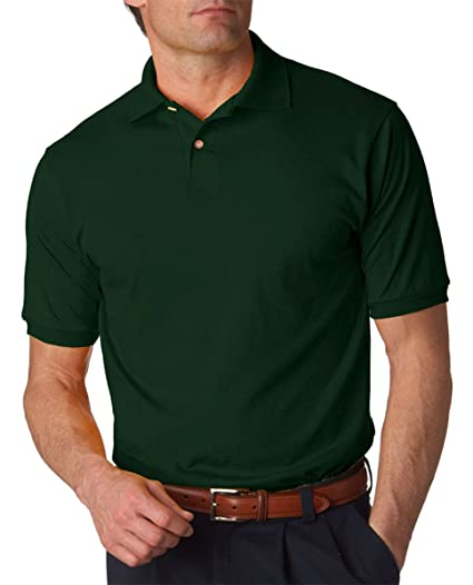 dd7586a5 Image Unavailable. Image not available for. Color: Jerzees Mens 5.6 Oz., 50/50  Jersey Polo With Spotshield ...