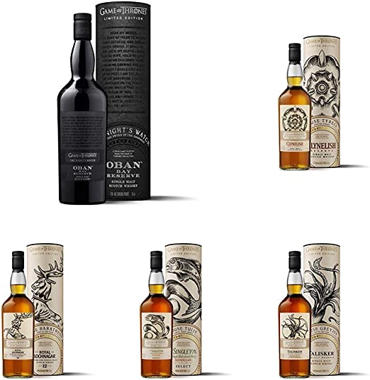 Game Of Thrones Whiskies Set 9 Bottles 630 Cl Amazon Co Uk Grocery