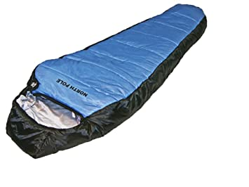Explorer Momia Saco de Dormir North Pole de Invierno 21 °C Tienda Camping Outdoor Saco de Dormir, Azul, 220 x 88 x 58 cm: Amazon.es: Deportes y aire libre