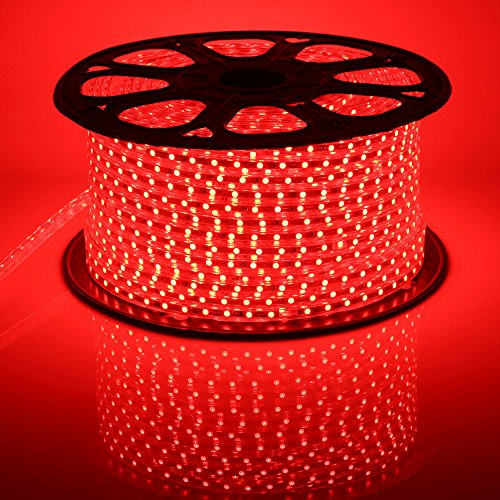 Quest High End 100 Feet Flat LED Strip Rope Light, Indoor...