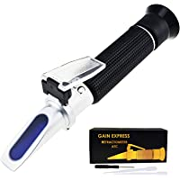 Gain Express 0-10% Brix Refractometer with ATC Low-Concentrated Sugar Solutions Accuracy 0.1% Synthetic Machining…