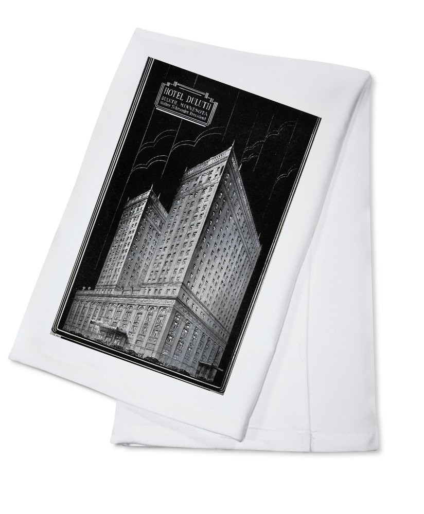 Duluth, Minnesota - Exterior View of the Hotel Duluth (100% Cotton Kitchen Towel)