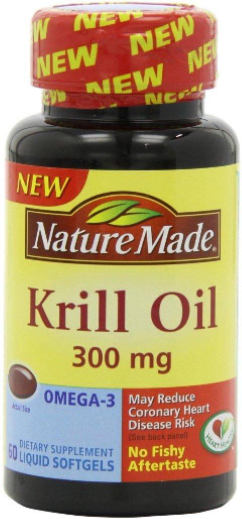 Nature Made Krill Oil 300 mg Liquid Softgels 60 ea (Pack of 4)