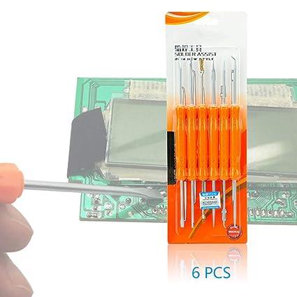 E-House - Juego de herramientas 6 en 1 con gancho de cepillo para limpieza