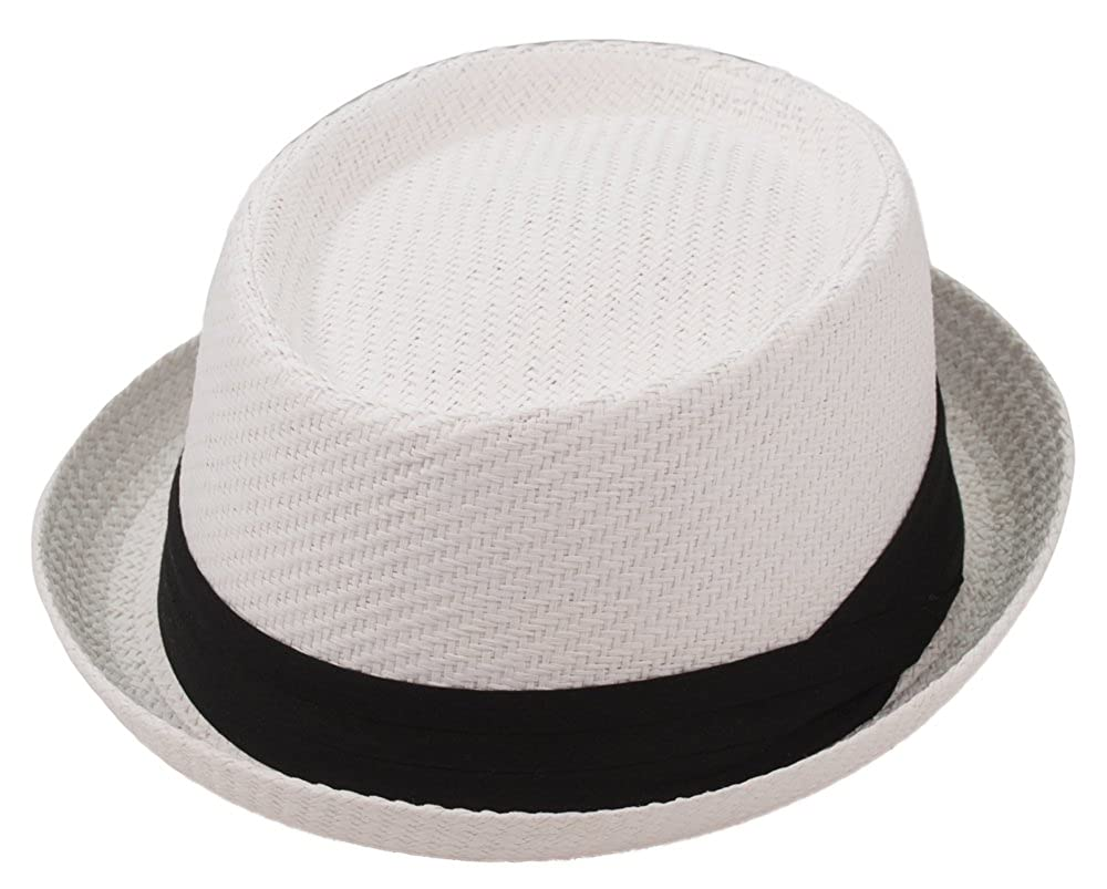 Milani Fedora Roll Up Brim Hat with Grosgrain Ribbon Band