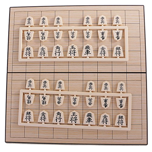 MonkeyJack Japanese Chess Classical Shogi Game Set with Wooden Board Table Travel Game by MonkeyJack