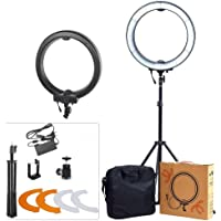 ASHANKS Ring Light with Stand 12in Camera Photo/Video 240 LED MSD 5500K Dimmable Ring Fluorescent Flash Light Lighting Kit for,Fashion Photography and Youtube Vine Self-Portrait Video Shooting(Pink)