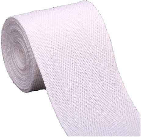 2 metres Pale Pink 10mm Cotton Herringbone Tape Webbing Ribbon Craft Sewing