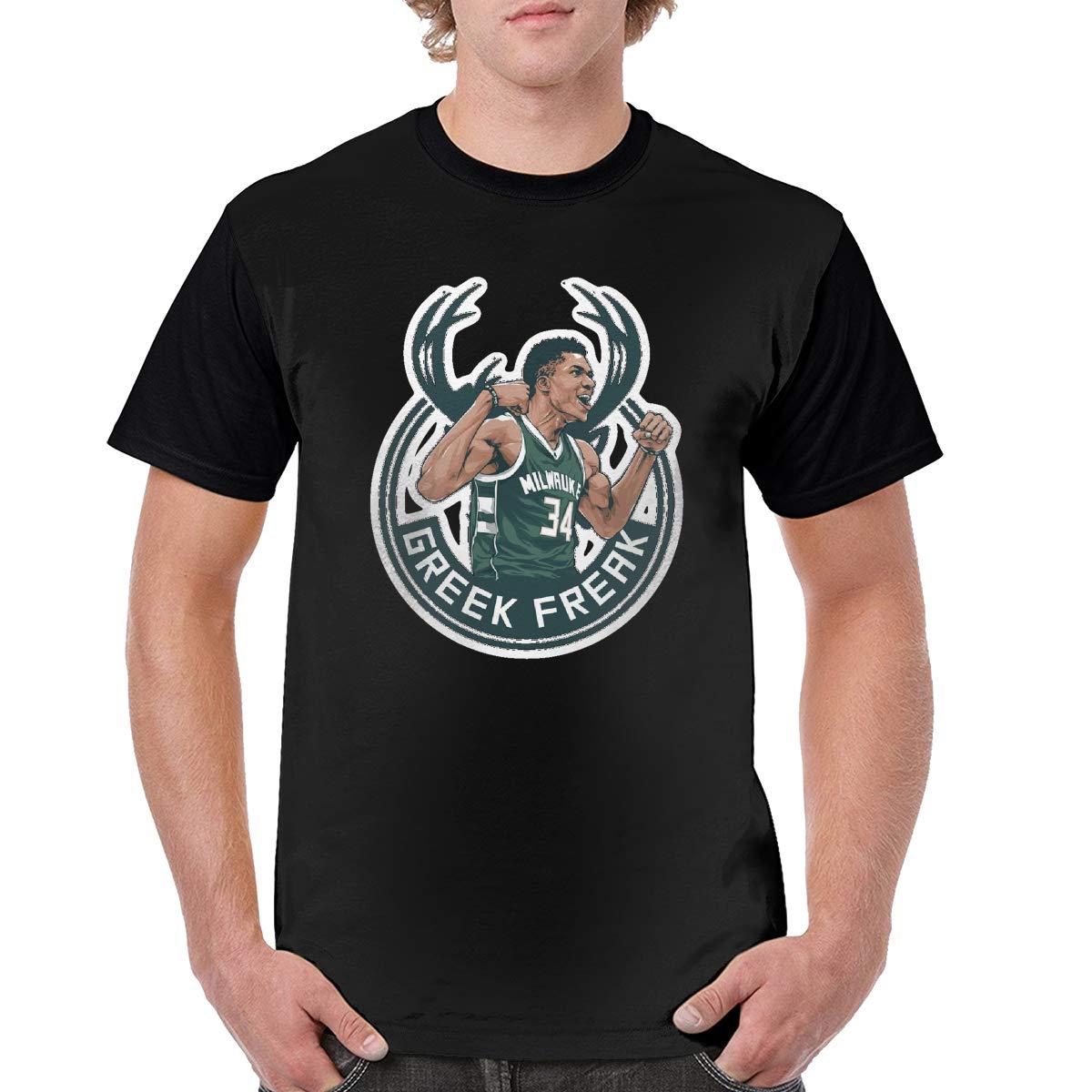 Antetokounmpo S T Shirt Milwaukee Basketball Fun Black