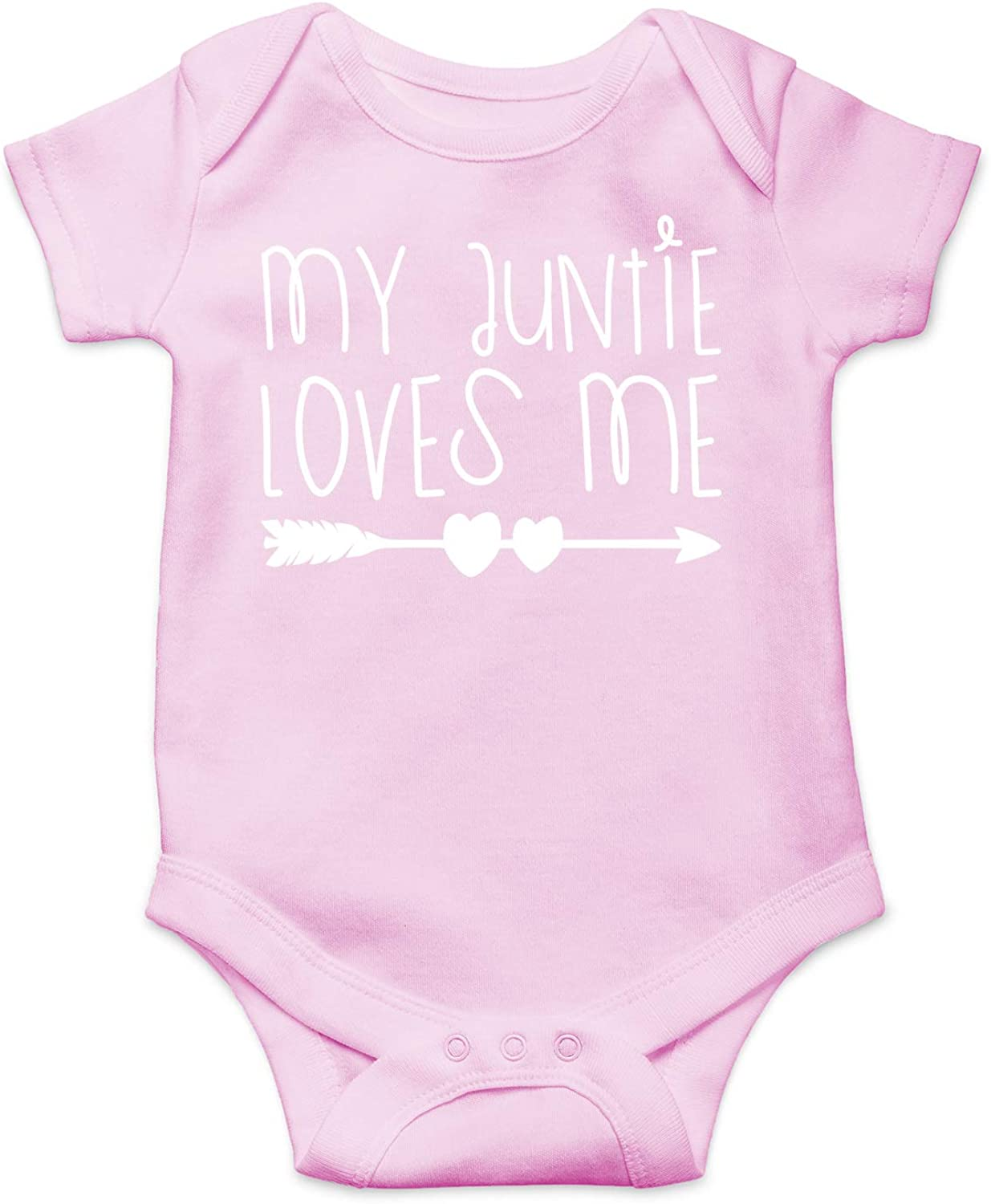 My Auntie Loves Me - Funny for Nephew Niece - Funny Cute Infant Creeper, One-Piece Baby Bodysuit