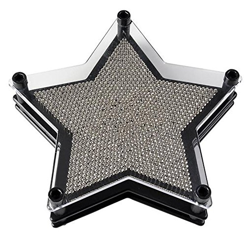 """All Star Pin Game (ArtCreativity 6"""" Star Pin Art Game for Kids or Adults Pin Art Toy for Autistic Kids-Stainless Steel Metal Pins, Sturdy Plastic Frame-Great Party Favor/Gift for Boys-Girls/Office Desk Decoration)"""