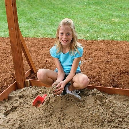 Premium Play Sets Ainsley Ready to Assemble Wooden Swing Set, Multicolor by Cedar Summit (Image #2)