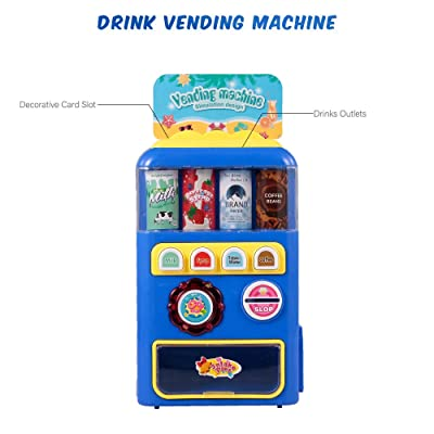 CCGTOY Vending Machine Toys Electronic Drink Machines Kids Education Learning Toys for Boys and Girls: Electronics