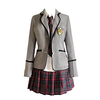 c3b98af70 Amazon.com: URSFUR Womens British Style Japan School Uniform Sets Cosplay  Costume Anime Girl: Clothing