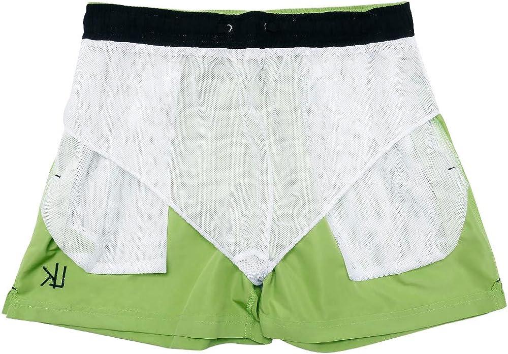 LK B.Hose Swim Shorts Mens Swimming Trunks Beach Surf Quick Dry Adjustable Drawstring
