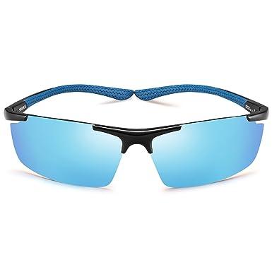 8a838cd68e9 Sports Polarized Sunglasses-UV400 Anti Glare Lenses-Metal Half Frame