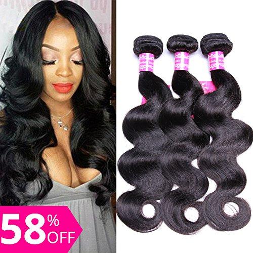 Gabrielle Brazilian Body Wave 3 Bundles 100% Human Hair Bundles 7A Unprocessed Brazilian Virgin Hair Natural Color Hair Extension