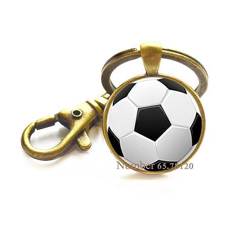 Amazon.com: Llavero de bola de fútbol, regalo de equipo de ...