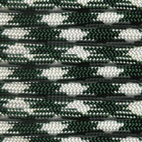 100 Feet of 550 Pound Nylon Paracord 7 Strand Type III Utility Cord - Shamrock Frost