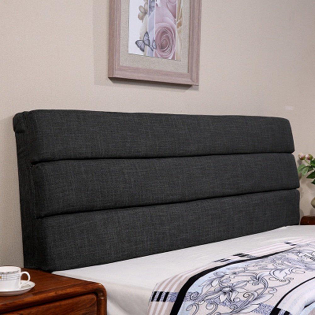 ZEMIN Nachttisch Kissen Mit Kopfteil Unterstützung Rückenlehne Tasche Sofa Weich Tasche Baumwolle Bett Kopf Groß Doppelt Gemütlich Warm Leinen, 7 Farben, 10 Größen Verfügbar