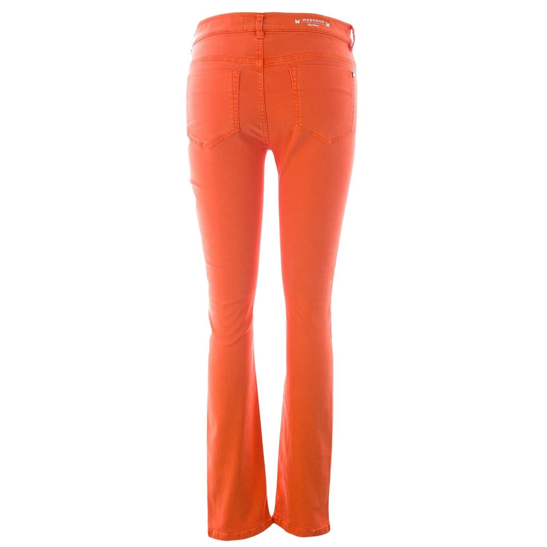Weekend Max Mara Women's Pilard Skinny Jeans Sz 8 Tangerine