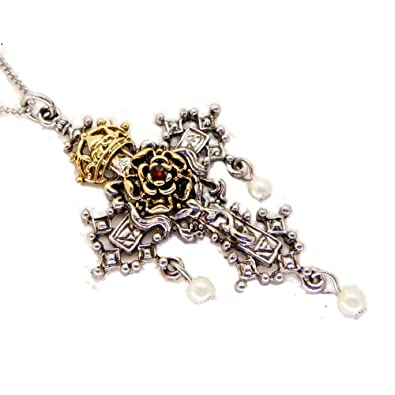 Hampton court rosy cross pendant necklace amazon jewellery hampton court rosy cross pendant necklace mozeypictures Image collections