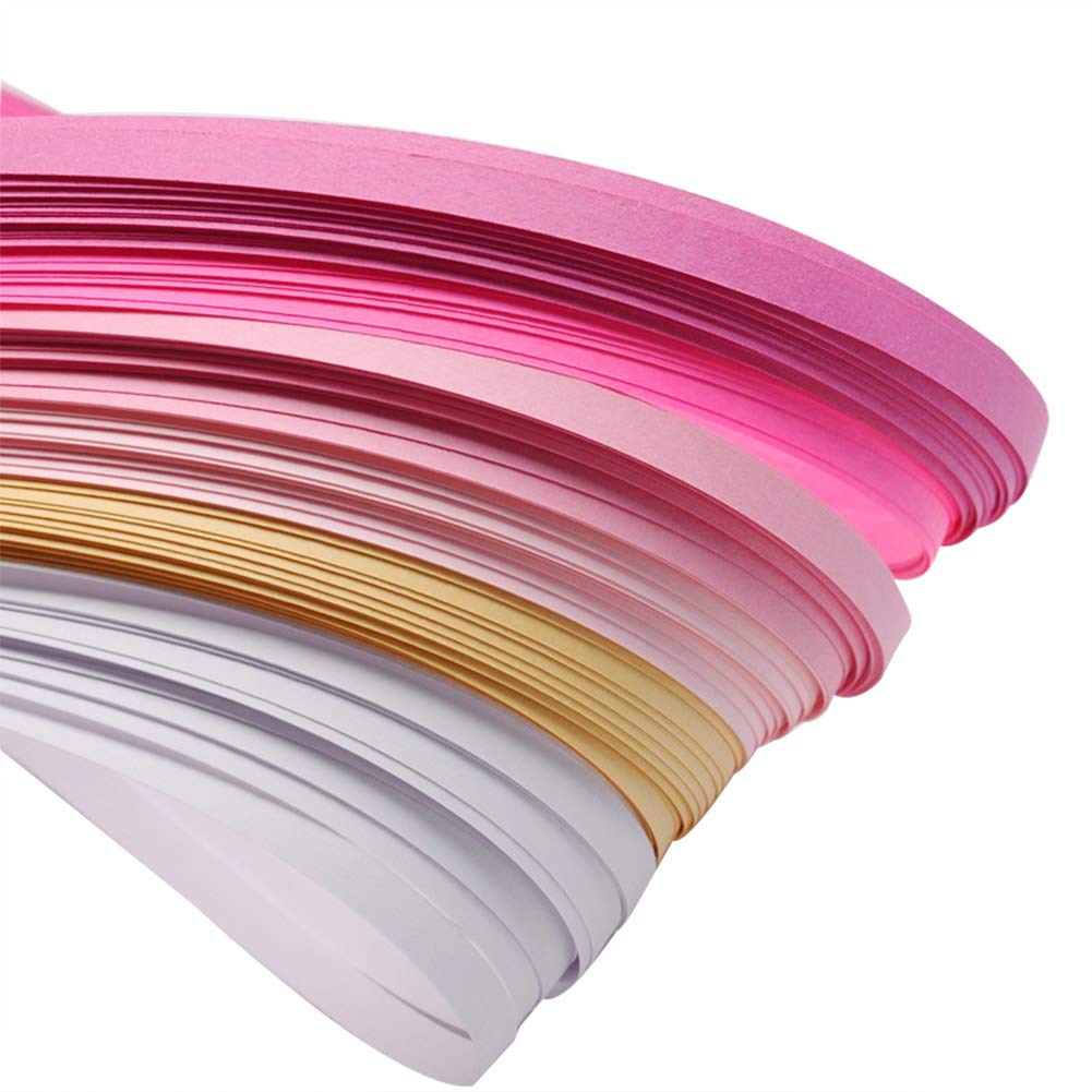 About 120strips//bag ARRICRAFT 10 Bags Pink 6 Colors Quilling Paper Strips Gradual Color for DIY Crafts Home Decoration 20strips//Color 390x3mm