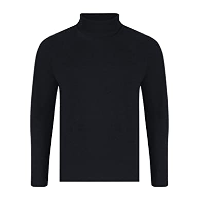 9c5dc390378125 Mens ROLL Neck Long Sleeve Cotton TOP Polo Neck Turtle Neck: Amazon.co.uk:  Clothing