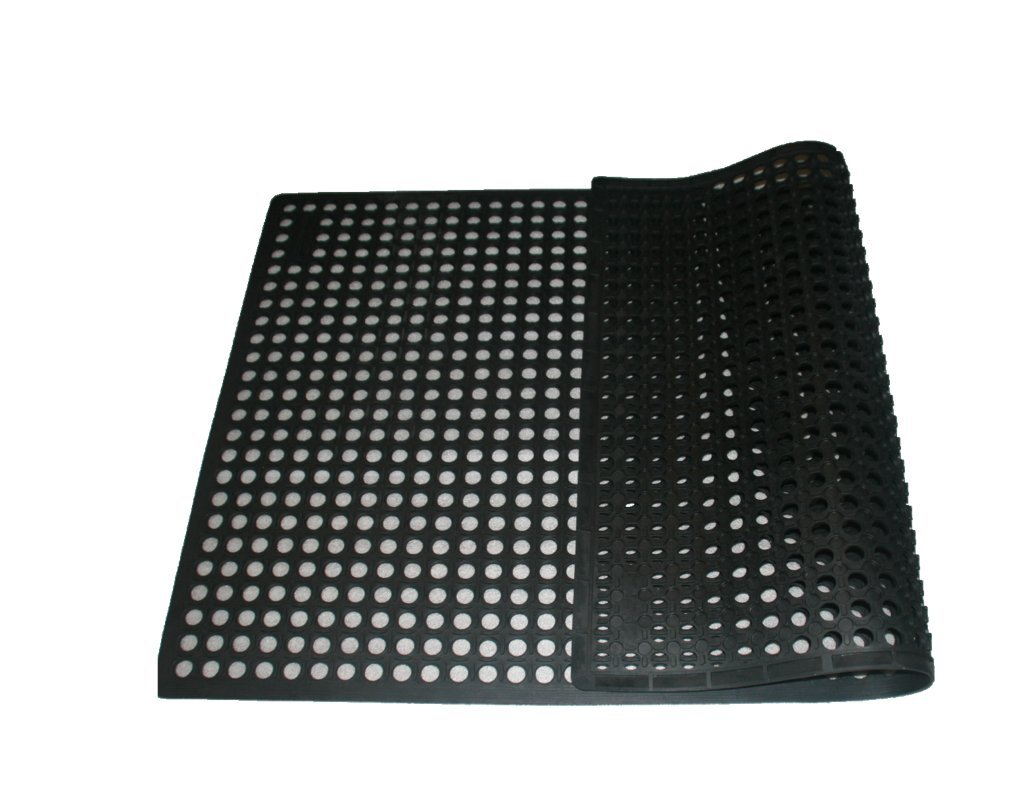 Rhino Mats KCT-3660B K-Series Comfort Tract Anti-fatigue Drain-thru Mat, 3' x 5', Black by Rhino Mats (Image #3)