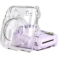 Bolso para cámara instantáneo, Estuche Protector Transparente PC con Correa para el Hombro para Fujifilm Instax Mini 11