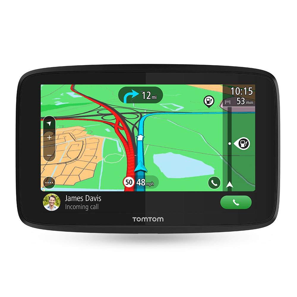 TomTom GO ESSENTIAL 5'' (5 Pouces) – GPS Auto - Cartographie Europe 49 Pays, Trafic à Vie via Smartphone, 6 mois d'essai aux zones de Danger, Appel Mains-Libres, TomTom Road Trips, mises à jour Wi-Fi
