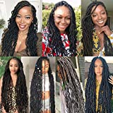 Youngther 18 Inch Nu Faux Locs Crochet Hair Curly
