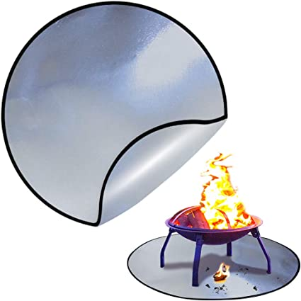 Amazon Com Fire Pit Mat Fireproof Mat With Aluminum Foil Kingxbar Firepad Deck Protector Heat Shield For Burn Barrel Fire Pit Grill To Protect Your Deck Patio Lawn Campsite From Fire Burn