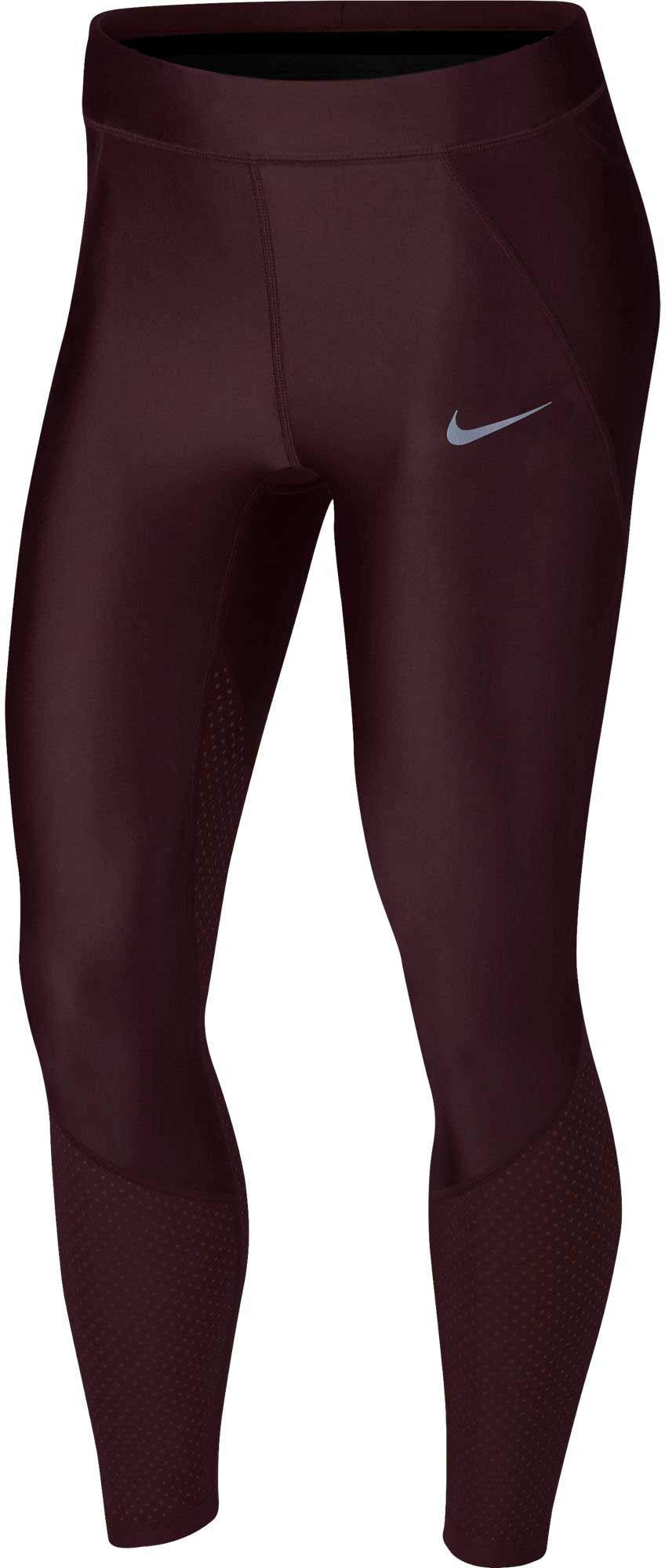 NIKE Women's Speed Cool 7/8 Running Tights (Burgundy Crush, Large) by Nike (Image #1)