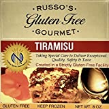 Russo's Gluten Free Gourmet Tiramisu - 8 Oz (3 Pack)- Made With Ingredients (Frozen) !!