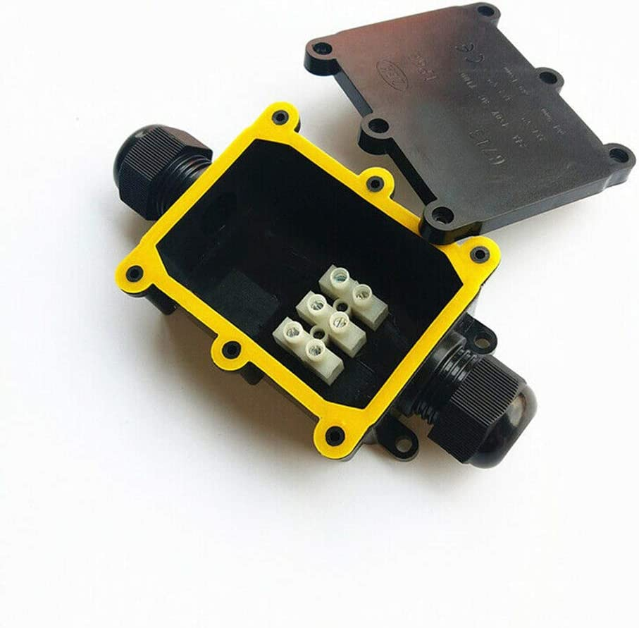 Junction Box Cable Connector 2 Way Electrical Junction Box Cable Wire Connector IP68 Waterproof