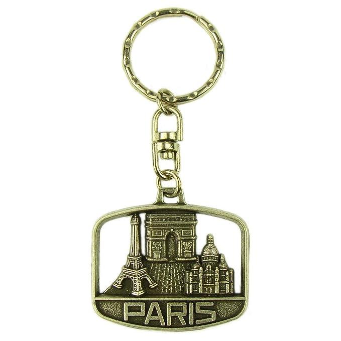 Souvenirs of Paris - Llavero Plateado plata: Amazon.es: Ropa ...