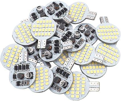2nd Generation 20x Grv T10 LED Light Bulb 921 194 192 C921 24-2835 SMD Super Bright Lamp DC 12V 2 Watt For Car RV Boat Ceiling Dome Interior Lights Warm White