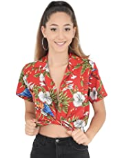Island Style Clothing Ladies Magnum Hawaiian Shirts Parrots Floral Unisex Party Clothing
