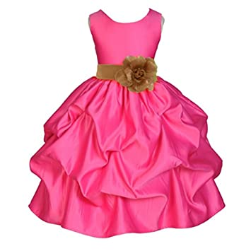 LaoZan Vestidos Sin Mangas De Fiesta Para Niñas Chicas Ceremonia De Princesa Wedding Party Dress Café