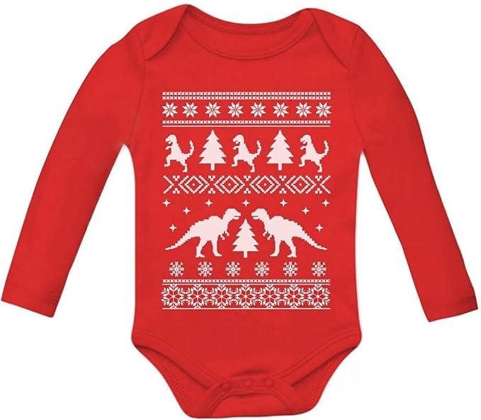 3d668df47691 Amazon.com  TeeStars - Ugly Christmas Sweater Trex Baby Long Sleeve ...