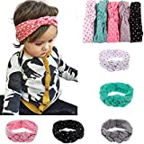 BiBang® Baby Girls Toddler Bow Headbands Turban Knot Rabbit Hairband Headwrap Headwear (Pack of 5) (type two)
