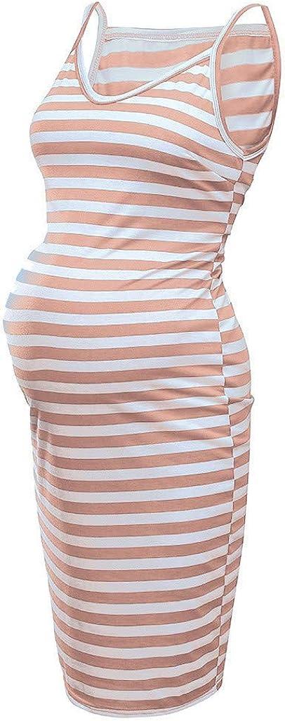 Juliyues Umstandskleid Sommer Damen Gestreift Schwangerschafts Kleid Weste Kleid Still Umstandskleid Mutterschafts Kleider Umstandsmode