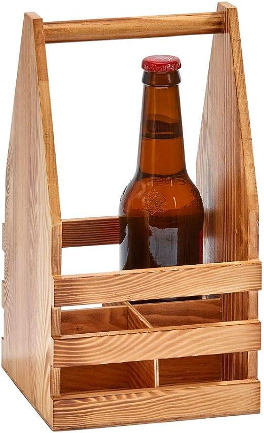 VINTAGE RETRO STYLE BEACH BAR WOODEN BOTTLE HOLDER BEER CRATE WITH BOTTLE OPENER