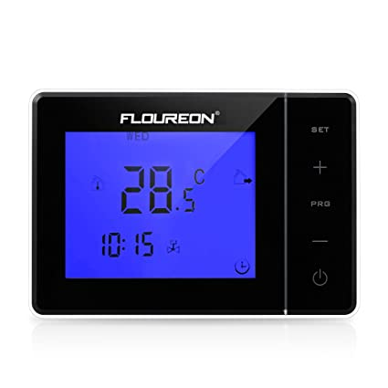 FLOUREON Heating Thermostat LCD Touchscreen with Backlight Programmable 5+2/6+1/